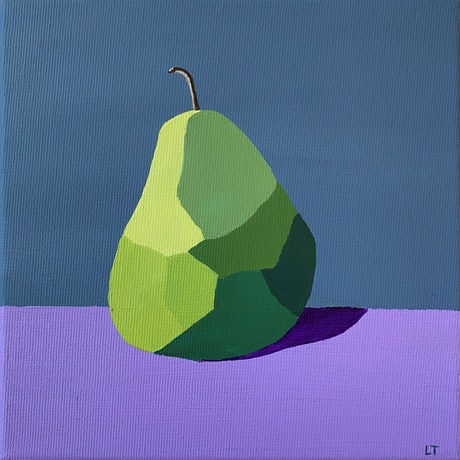 (CreativeWork) Pear Love - Original Painting by Lisa Turner. Acrylic Paint. Shop online at Bluethumb.