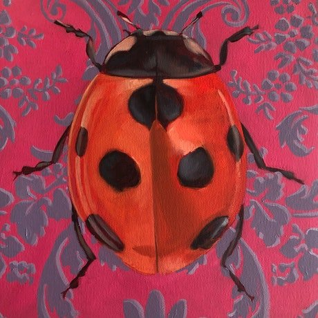 (CreativeWork) Lady Bug #1 by Damon Axisa. Oil. Shop online at Bluethumb.