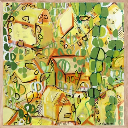 (CreativeWork) Suburban Jungle by Joy Collection. Acrylic Paint. Shop online at Bluethumb.