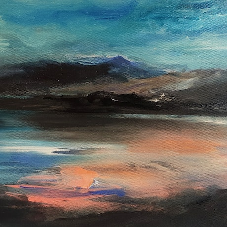 (CreativeWork) East Coast Vision by Alice Howell. Oil Paint. Shop online at Bluethumb.