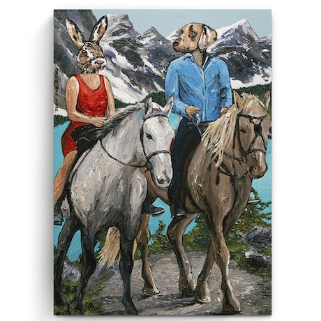 (CreativeWork) Hello Horses  (Print) by Gillie and Marc Schattner. Print. Shop online at Bluethumb.