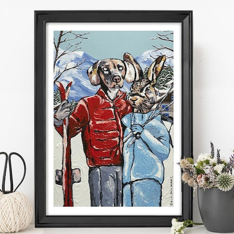 (CreativeWork) Hello snow  (Print)  by Gillie and Marc Schattner. Print. Shop online at Bluethumb.