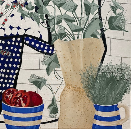(CreativeWork) Everyday by Cathy Beckwith. Acrylic Paint. Shop online at Bluethumb.
