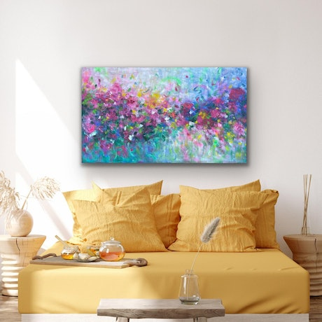 (CreativeWork) The Way You Love Me by Belinda Nadwie. Oil Paint. Shop online at Bluethumb.