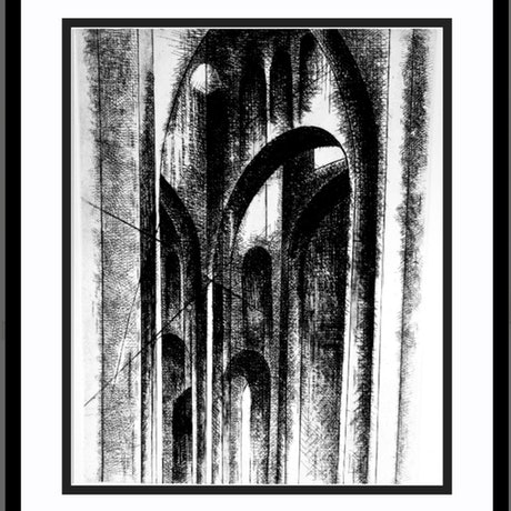 (CreativeWork)  Archs and lights Ed. 3 of 6 by Mojgan Ostovan. Print. Shop online at Bluethumb.