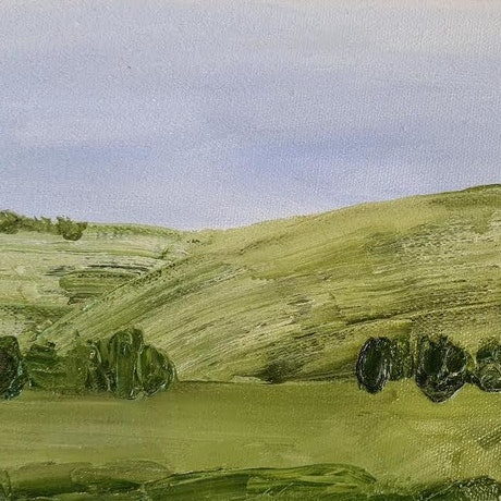 (CreativeWork) mini land  by monnica marwick. Oil Paint. Shop online at Bluethumb.