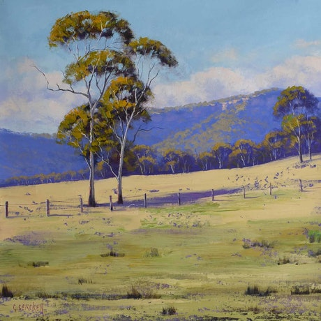(CreativeWork) Summer landscape Hartley  by Graham Gercken. Oil Paint. Shop online at Bluethumb.