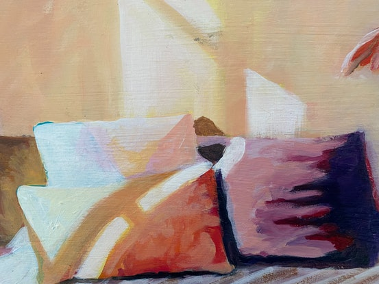 (CreativeWork) Morning Light by Alison Pilcher. Acrylic Paint. Shop online at Bluethumb.