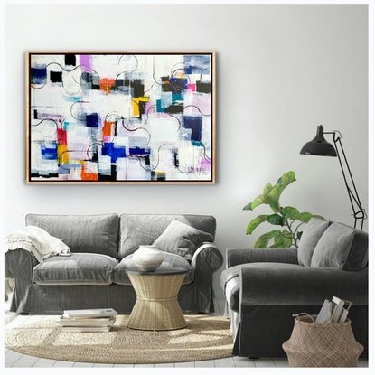 (CreativeWork) *ON SALE* Morning walk along the Yarra  by Brendon Mogg. Mixed Media. Shop online at Bluethumb.