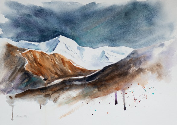 (CreativeWork) Giants of the Earth by Anastasia Mily. Watercolour Paint. Shop online at Bluethumb.
