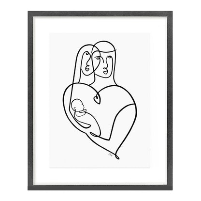 (CreativeWork) ' Lovers Child '  ◻ 43 x 53 x 1.6    by Chris Cox. Acrylic Paint. Shop online at Bluethumb.