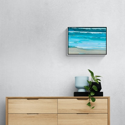 (CreativeWork) Light Swell by Simon Palmer. Acrylic Paint. Shop online at Bluethumb.
