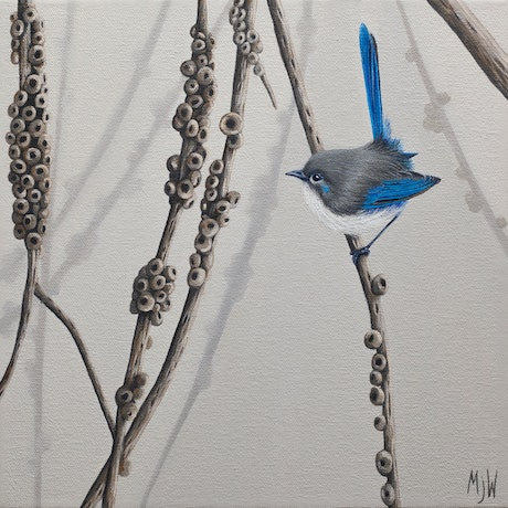 (CreativeWork) Between the Branches by Michelle Williamson. Oil Paint. Shop online at Bluethumb.