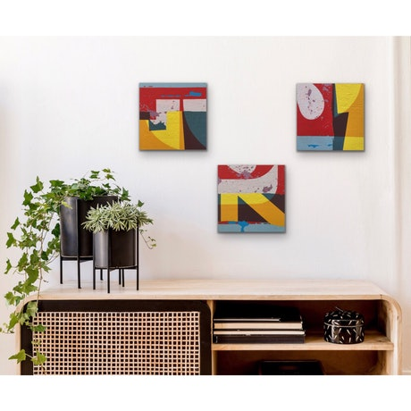 (CreativeWork) Cellophane Type - set of 3 by Letter allsorts. Acrylic. Shop online at Bluethumb.