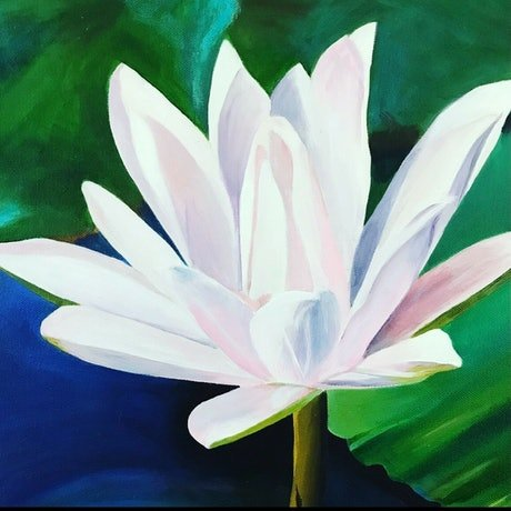 (CreativeWork) Water Lily  by Jenny McGrath. Acrylic Paint. Shop online at Bluethumb.