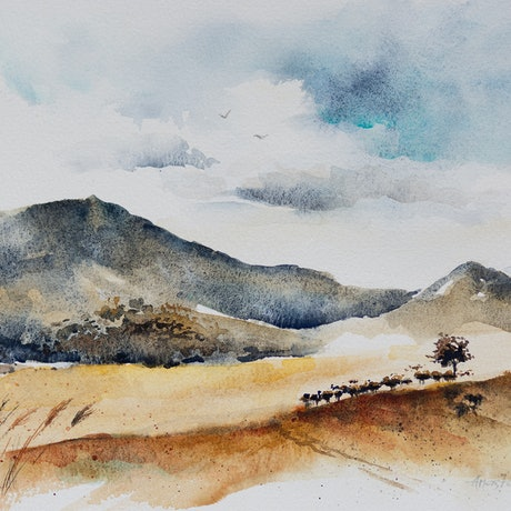 (CreativeWork) Upper Hunter by Anastasia Mily. Watercolour Paint. Shop online at Bluethumb.