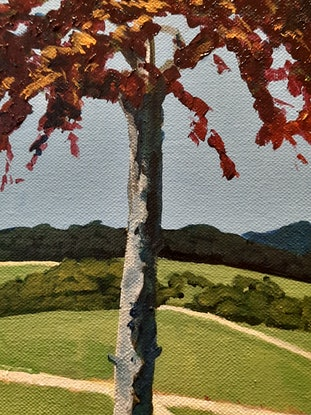 (CreativeWork) Red maple by David Foster. Acrylic. Shop online at Bluethumb.