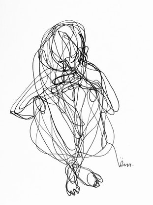 (CreativeWork) Don't Let Go - Collect your thoughts by Irma Calabrese. Drawings. Shop online at Bluethumb.