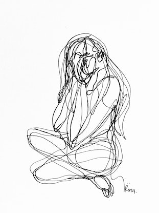 (CreativeWork) Don't Let Go - It is OK to cry by Irma Calabrese. Drawings. Shop online at Bluethumb.