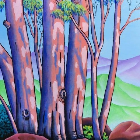 (CreativeWork) GUM GROVE 10 by Saadah Kent. Acrylic Paint. Shop online at Bluethumb.