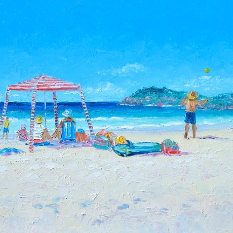 (CreativeWork) SUNDAY AT CABARITA BEACH by Jan Matson. Oil Paint. Shop online at Bluethumb.