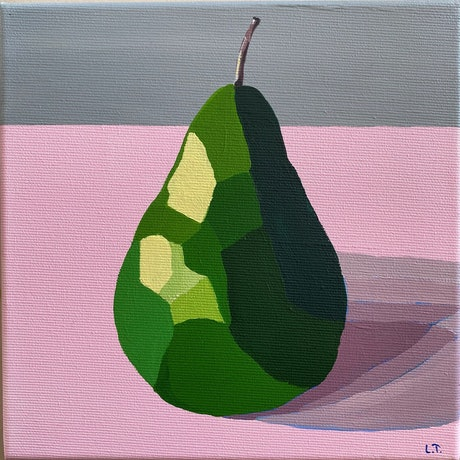 (CreativeWork) Pear Love 2 - Original Painting by Lisa Turner. Acrylic Paint. Shop online at Bluethumb.