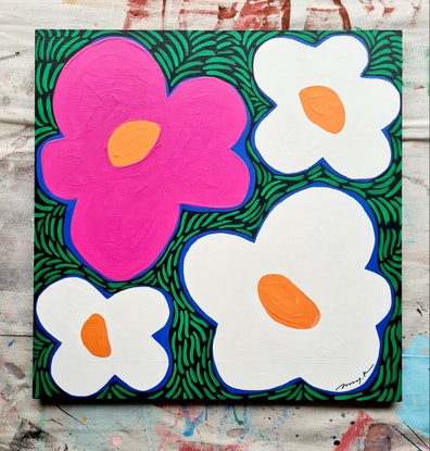 (CreativeWork) Join me in by Amy Kim. Acrylic Paint. Shop online at Bluethumb.