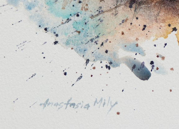 (CreativeWork) Standing Strong by Anastasia Mily. Watercolour Paint. Shop online at Bluethumb.