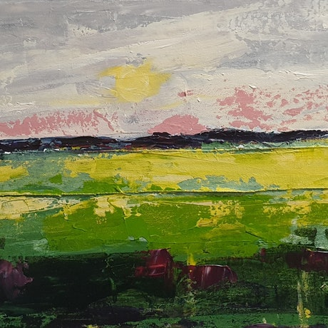 (CreativeWork) Contemporary Landscape by Olga Megele. Acrylic Paint. Shop online at Bluethumb.