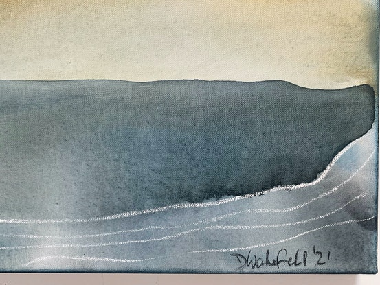 (CreativeWork) Whitsand Bay  by Dinah Wakefield. Acrylic Paint. Shop online at Bluethumb.