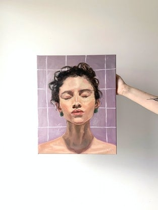 (CreativeWork) Eva  by Holly Harper. Oil. Shop online at Bluethumb.