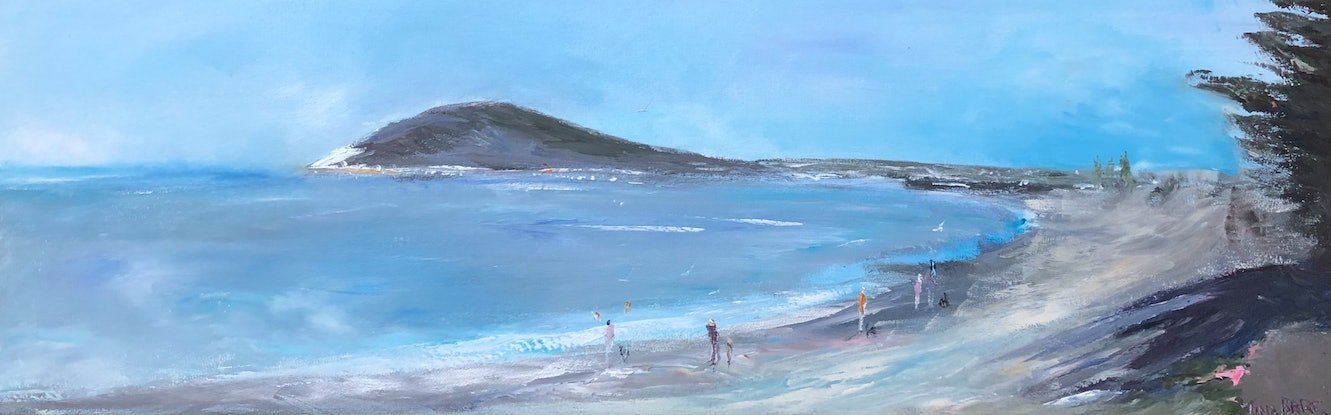(CreativeWork) Encounter Bay - Victor Harbor by Tina Barr. Acrylic Paint. Shop online at Bluethumb.