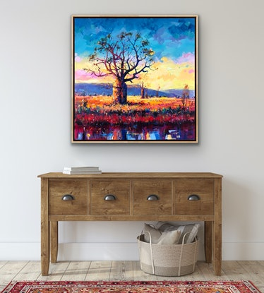 (CreativeWork) The Boab 5 by Jos Coufreur. Acrylic Paint. Shop online at Bluethumb.