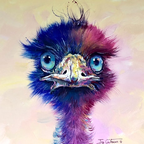 (CreativeWork) Emu 86 by Jos Coufreur. Acrylic Paint. Shop online at Bluethumb.