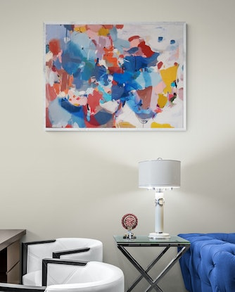 (CreativeWork) Alliance (Includes Framing) by Tulika Das. Acrylic Paint. Shop online at Bluethumb.