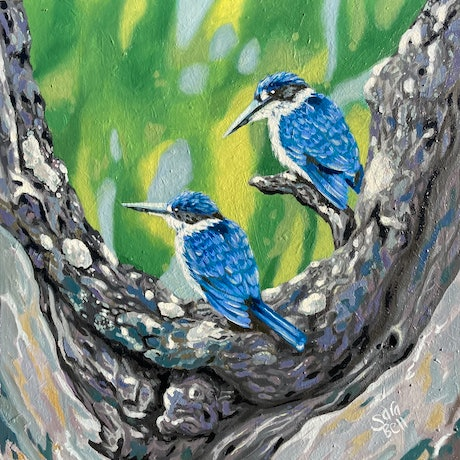 (CreativeWork) Can't Take My Eyes Off You by sara bell. Oil Paint. Shop online at Bluethumb.