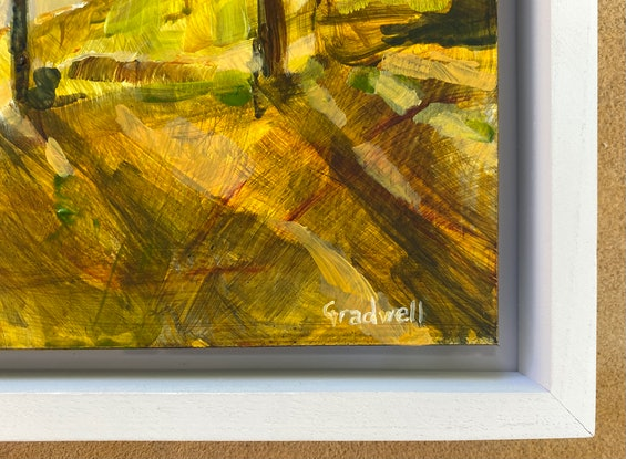 (CreativeWork) The Light that Dances on Middle Harbour (FRAMING AVAILABLE) by Kate Gradwell. Acrylic Paint. Shop online at Bluethumb.