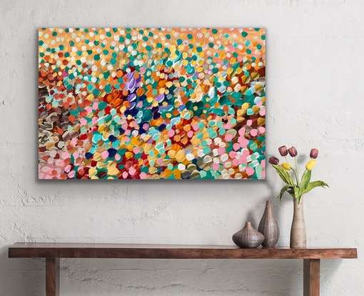 (CreativeWork) Sounds of the Forest  by Theo Papathomas. Acrylic Paint. Shop online at Bluethumb.