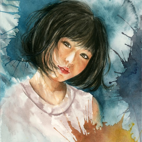 (CreativeWork) First Glance by Cecilia Xiao. Watercolour Paint. Shop online at Bluethumb.