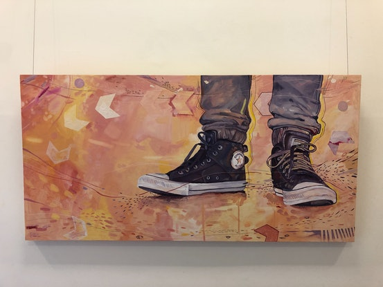 (CreativeWork) Tie Your Laces Tight by Luke Morgan. Oil Paint. Shop online at Bluethumb.