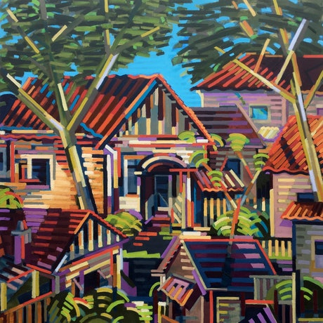 (CreativeWork) Clifton Hill by D.M. Ross. Oil Paint. Shop online at Bluethumb.