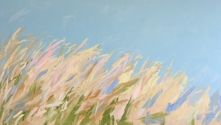 (CreativeWork) Nice to Wheat You by Meredith Howse. Acrylic Paint. Shop online at Bluethumb.