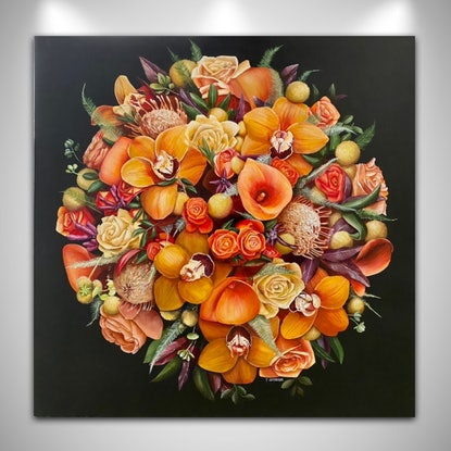(CreativeWork) Great Balls of Fire  by Treena Seymour. Acrylic. Shop online at Bluethumb.