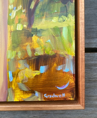 (CreativeWork) Not Far From Here (FRAMED)  by Kate Gradwell. Acrylic Paint. Shop online at Bluethumb.