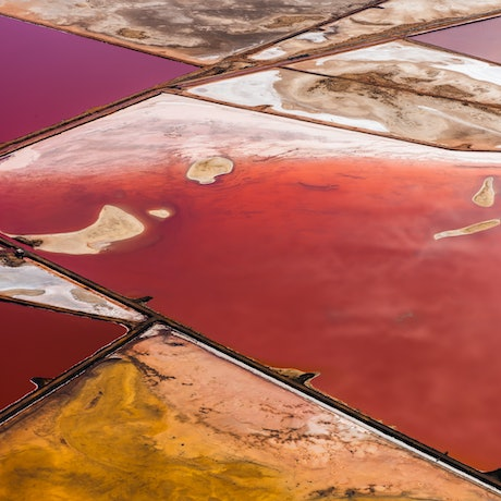 (CreativeWork) Salt Works Aerial 2 Ed. 1 of 10 by Karen Waller. Photograph. Shop online at Bluethumb.