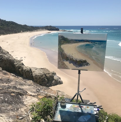 (CreativeWork) Frenchmans Bay, North Straddie by Richard Washbourn. Oil Paint. Shop online at Bluethumb.
