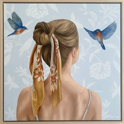 (CreativeWork) If Birds Could Talk by Ashley Bunting. Oil Paint. Shop online at Bluethumb.