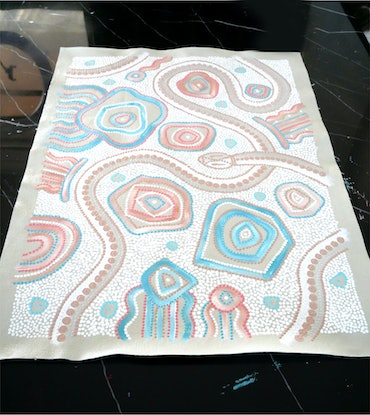 (CreativeWork) Serpent Journey by T'keyah Ware. Acrylic Paint. Shop online at Bluethumb.
