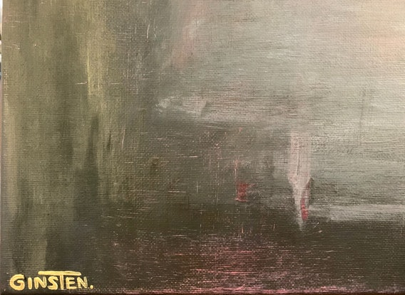 (CreativeWork) Overtime by Ginsten .. Acrylic Paint. Shop online at Bluethumb.