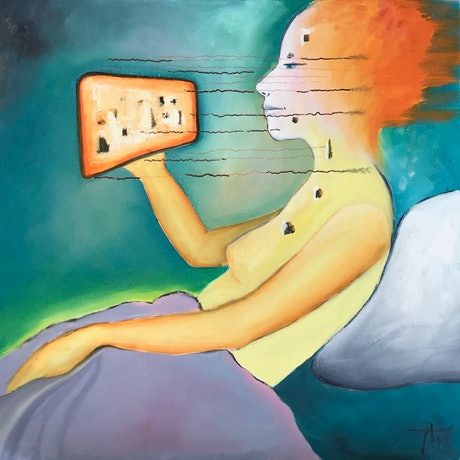 (CreativeWork) Microwaves by Tania Weekes. Oil Paint. Shop online at Bluethumb.